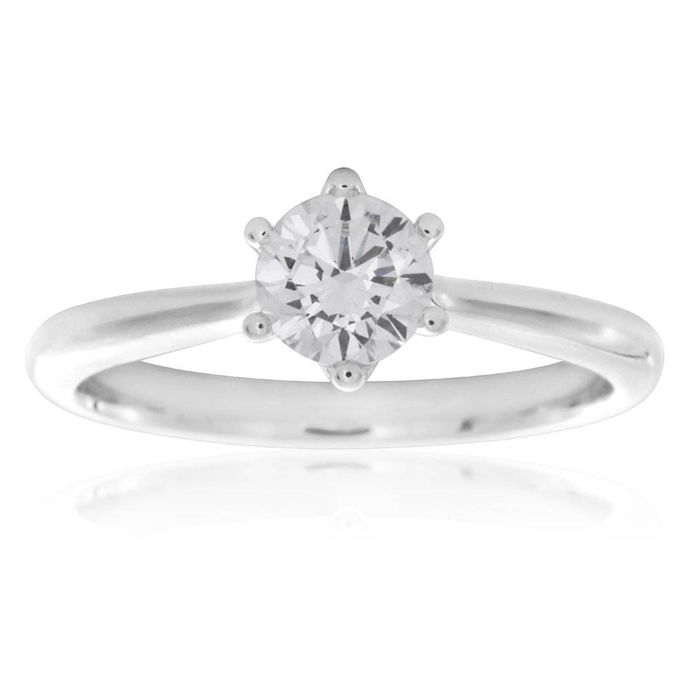 Luminesce Laboratory Grown 1/2 Carat Diamond Solitaire Ring in 18ct White Gold
