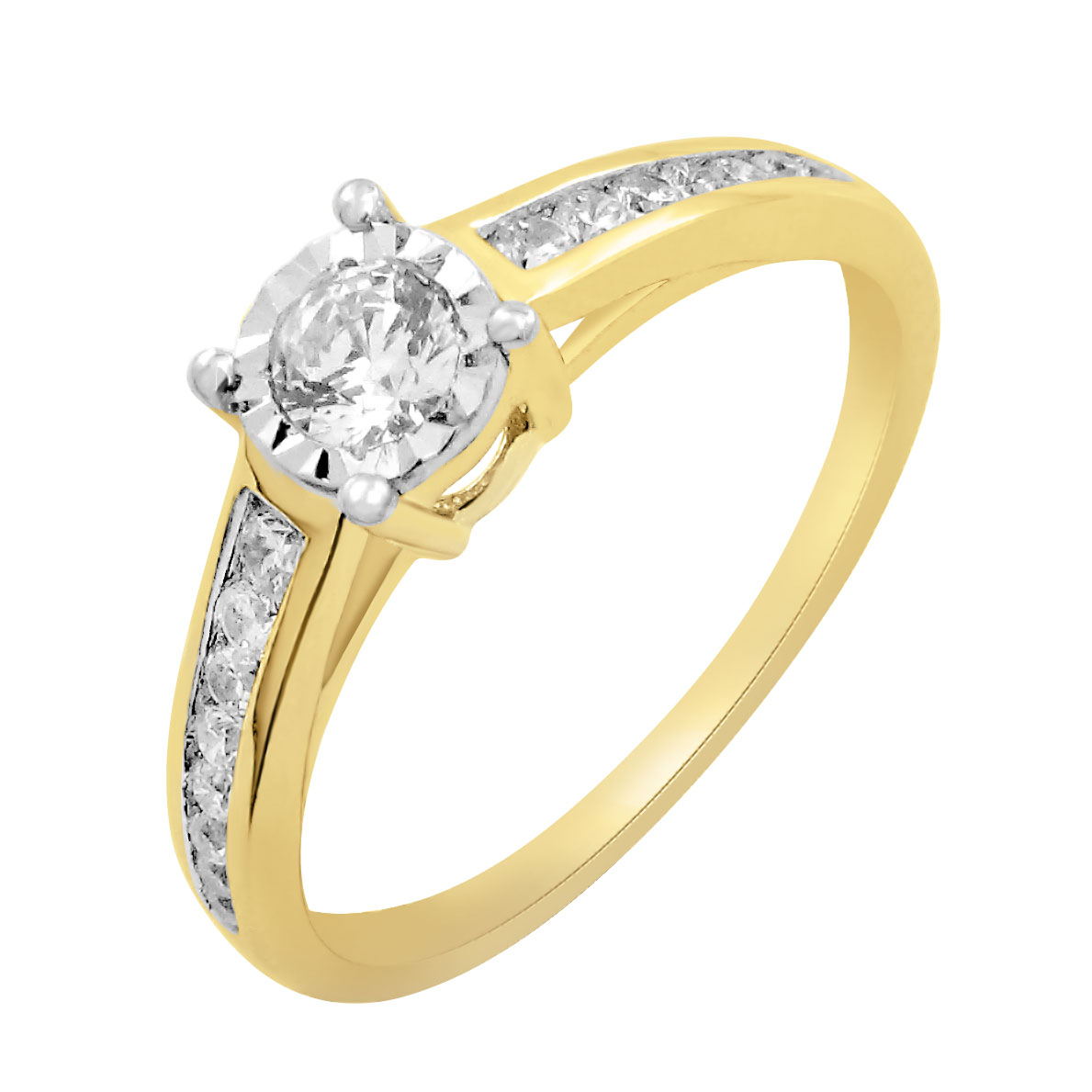9ct Yellow Gold 1/3 Carat Diamond Solitaire Ring