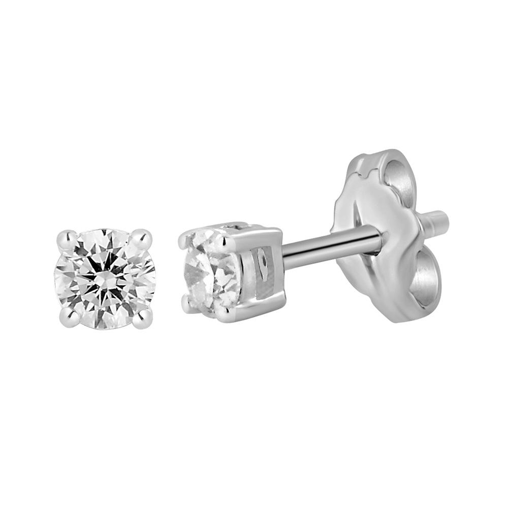 9ct White Gold  0.30 Carat Diamond Stud Earrings