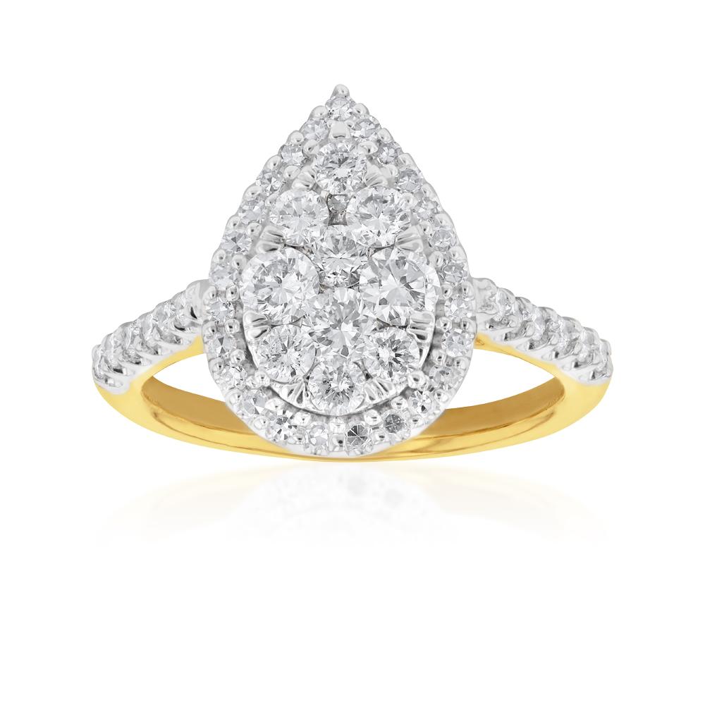 9ct Yellow Gold 1 Carat Luminesce Laboratory Grown Diamond Ring