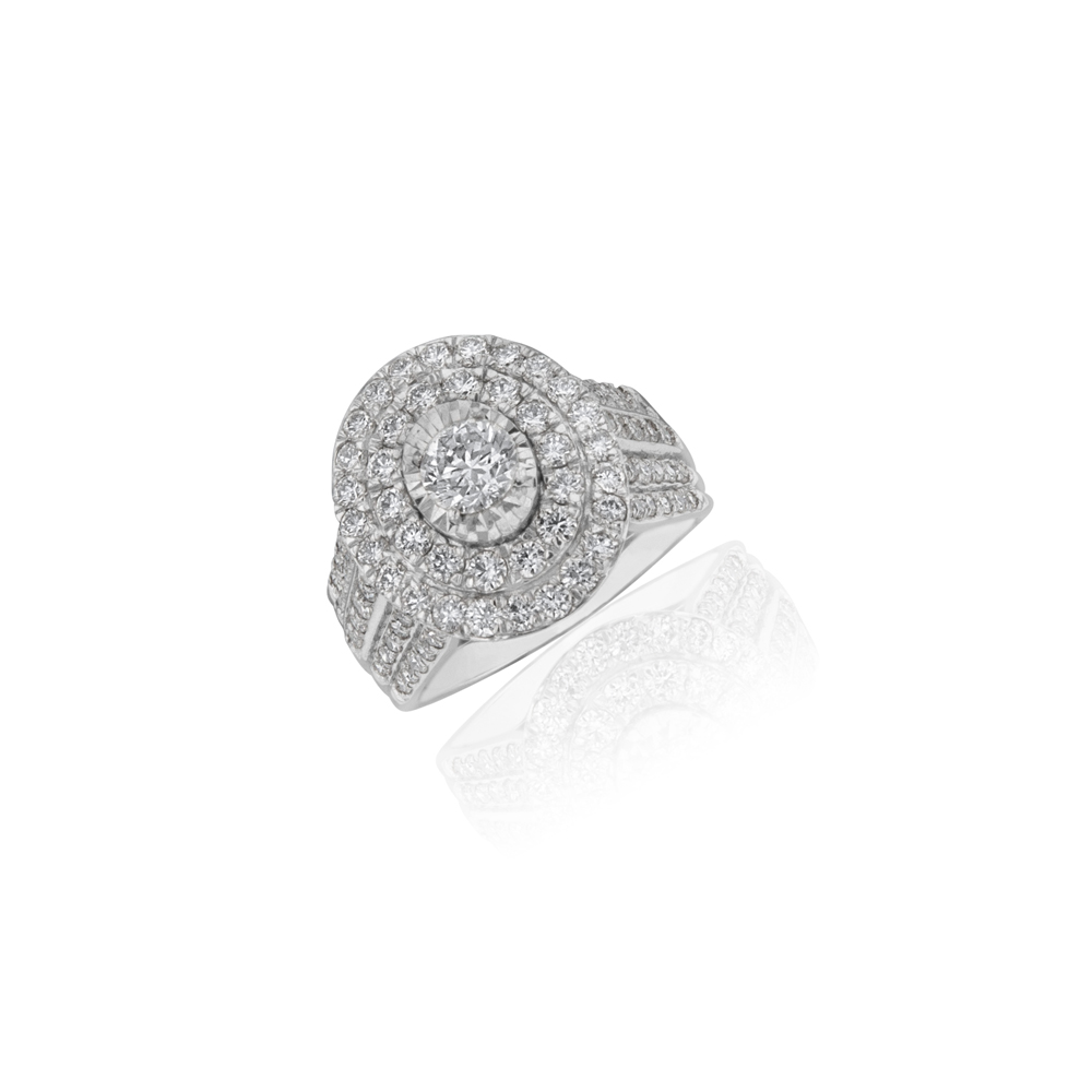 2.00ct Diamond Halo Ring in 18ct White Gold