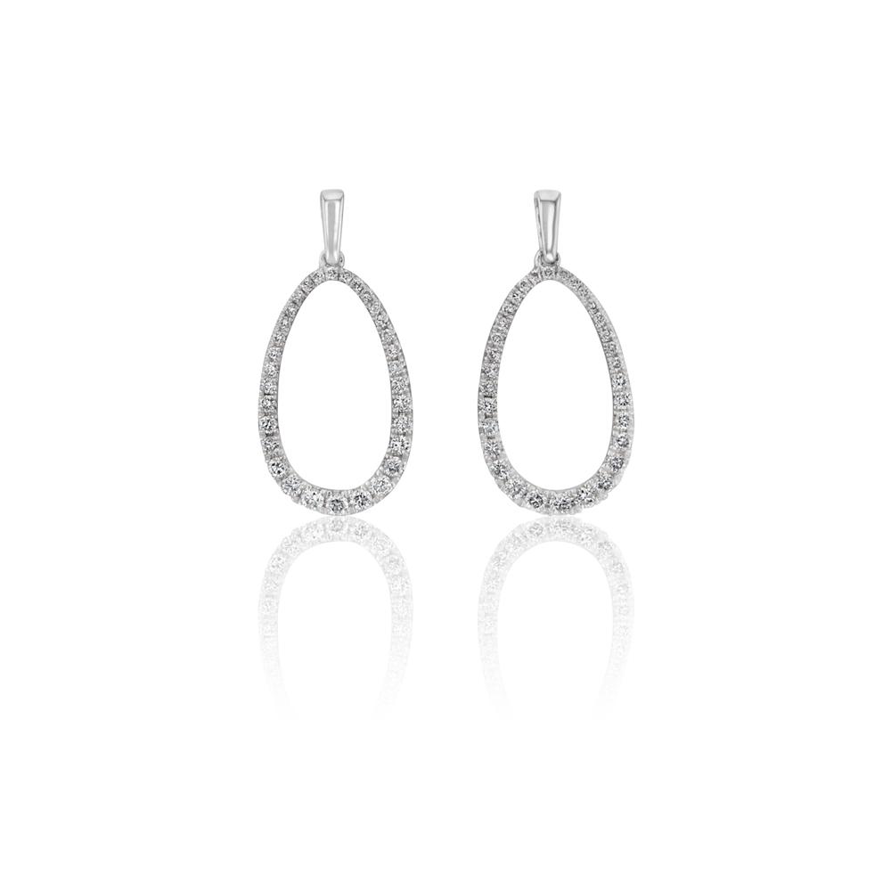 0.50ct Diamond Drop Earrings in white gold
