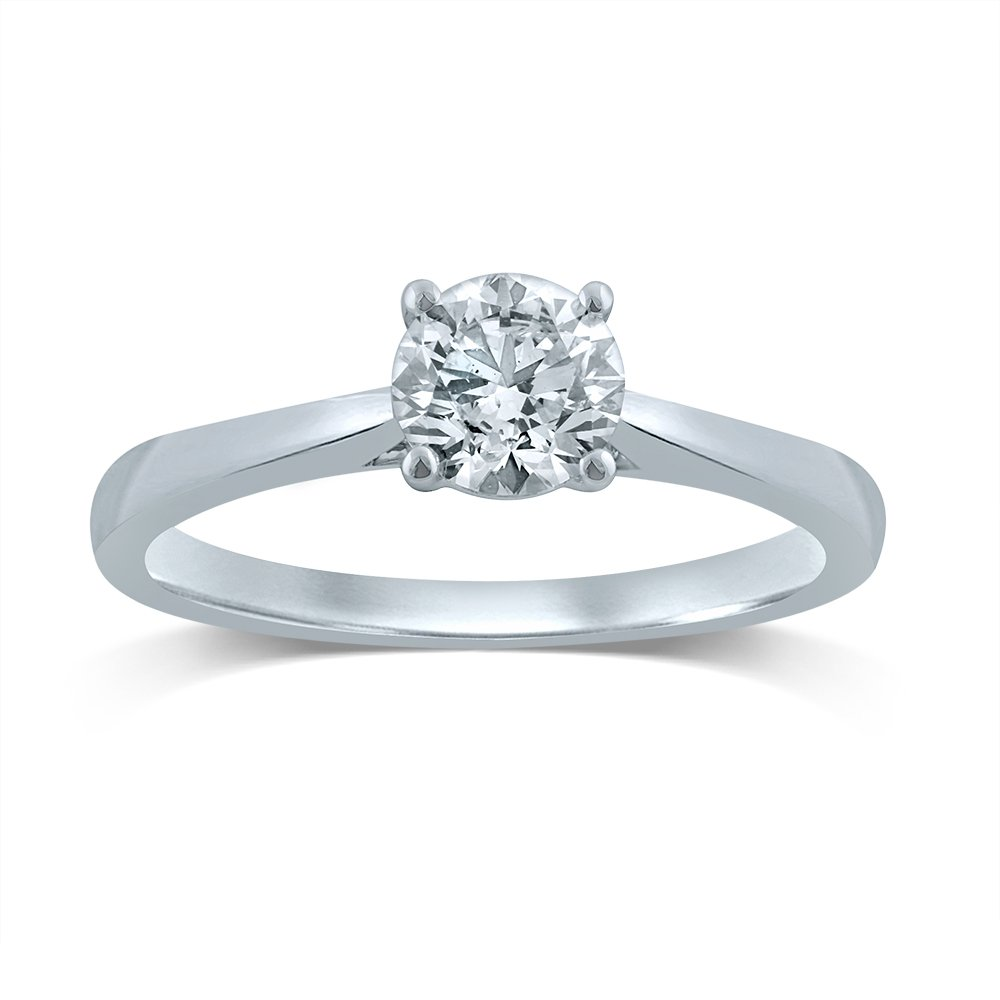 Luminesce Lab Grown 18ct White Gold 0.70 Carat Diamond Solitaire Ring