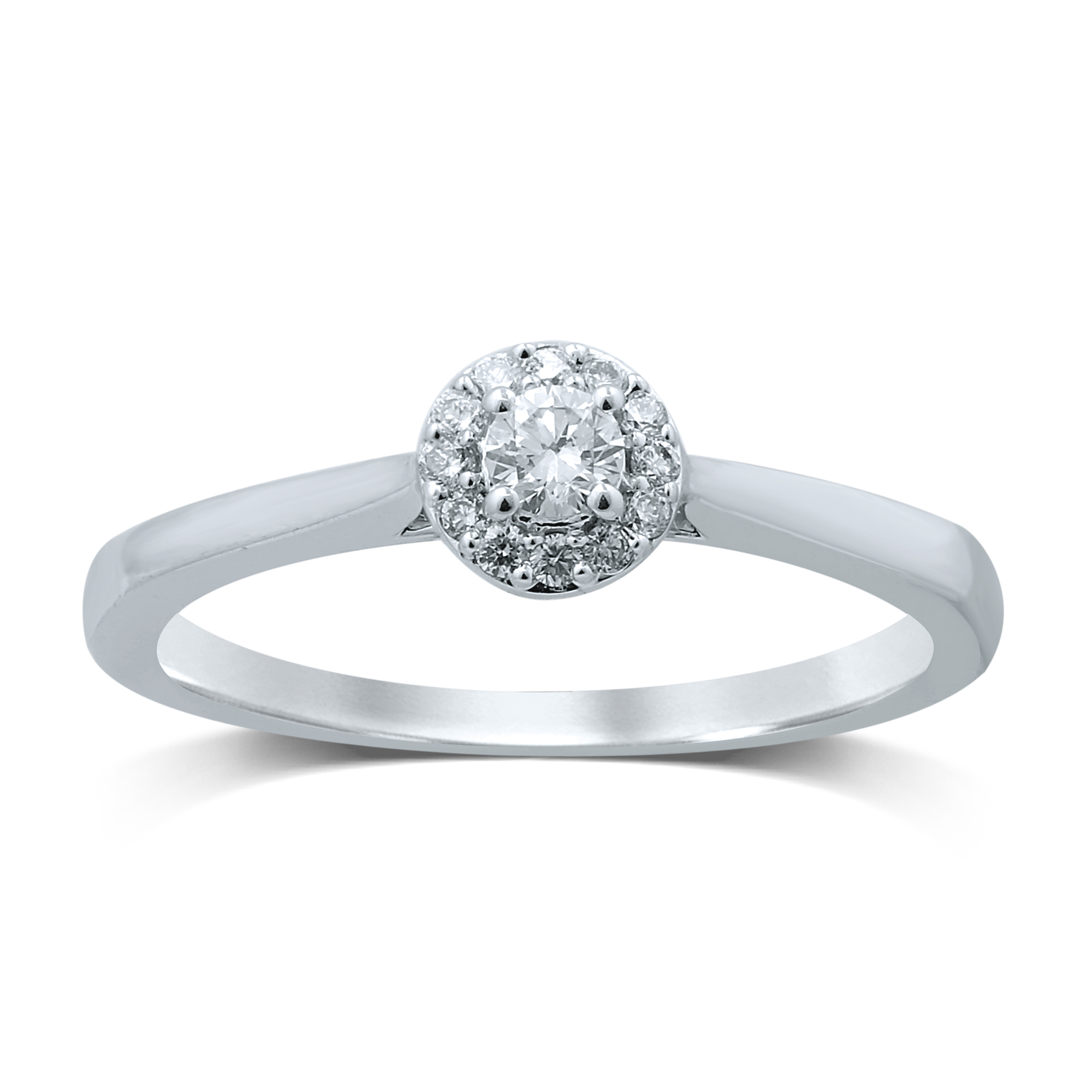 Luminesce Lab Grown 18ct White Gold 0.15 Carat Diamond Halo Ring