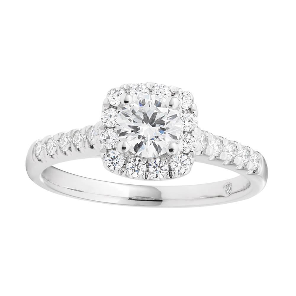 Flawless Cut Platinum Diamond Ring