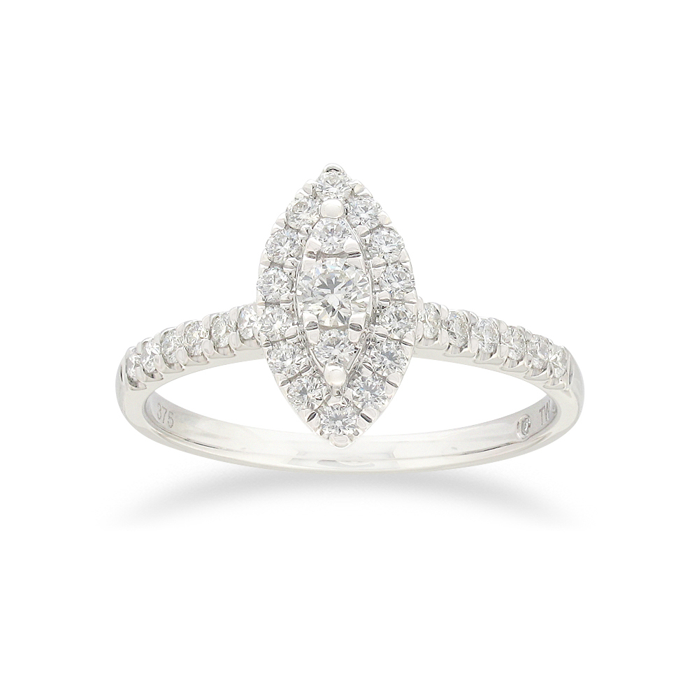 Flawless 1/2 carat Diamond Ring in 9ct white gold