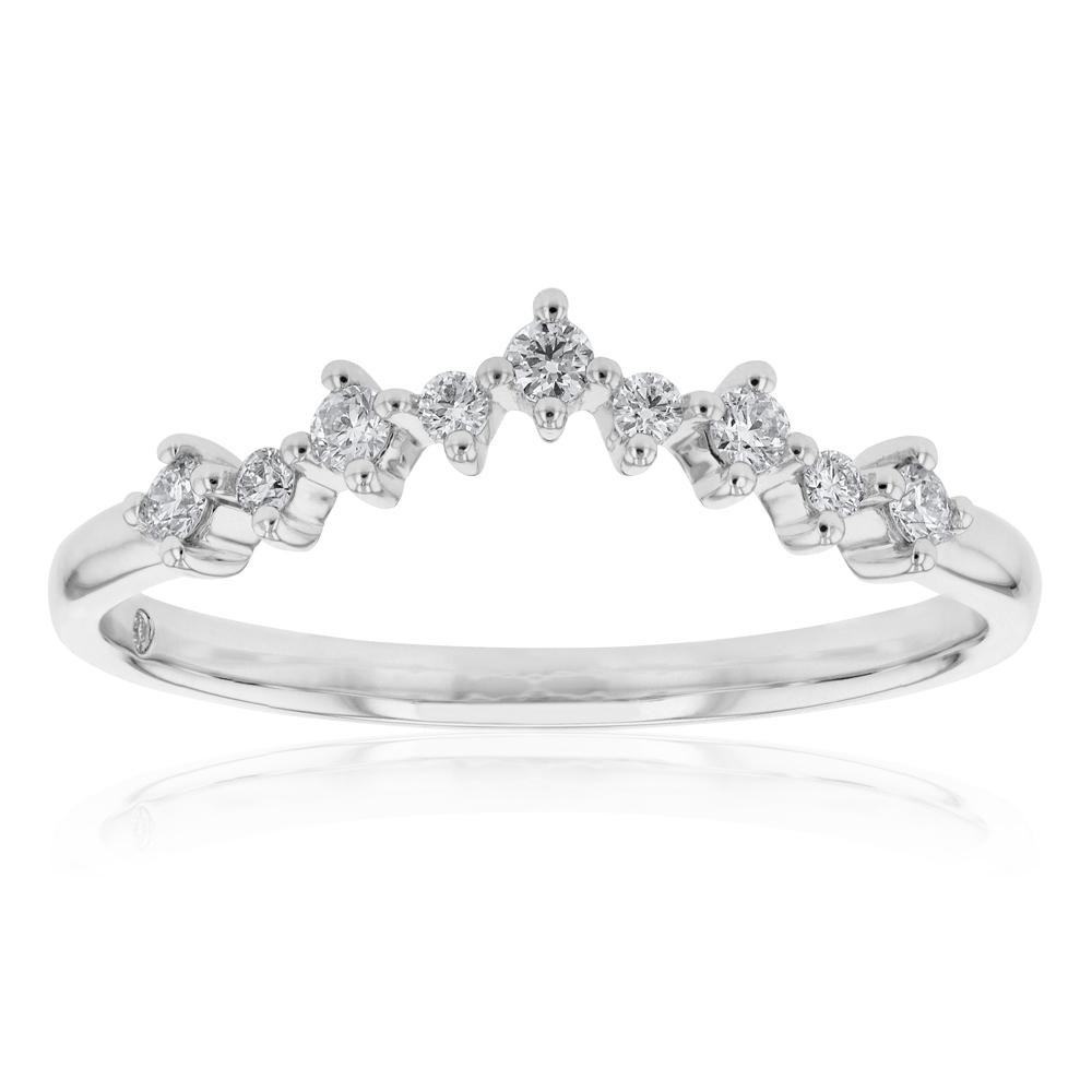 Flawless Cut 18ct White Gold  1/5 carat GI SI Certified Diamonds