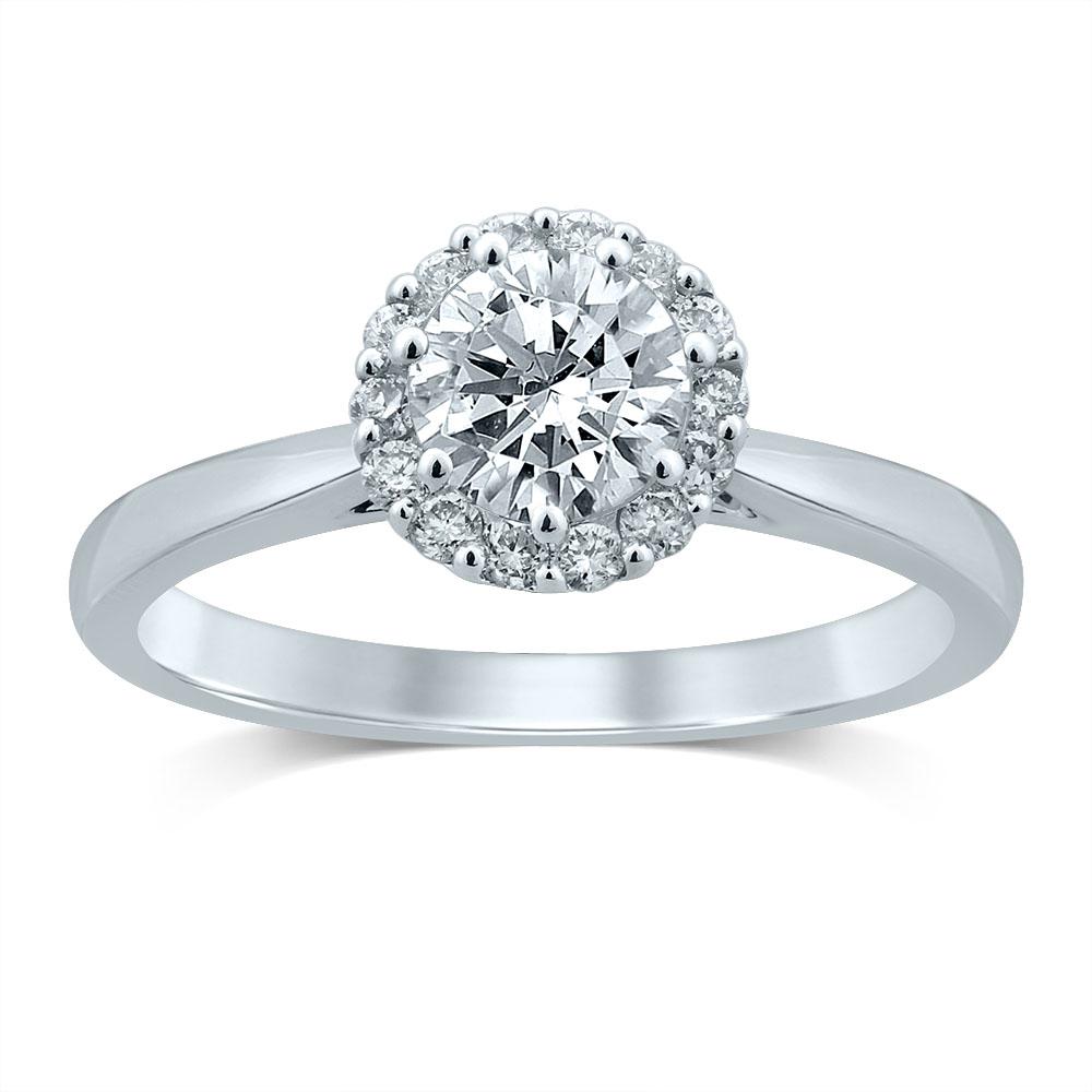 Luminesce Lab Grown 18ct White Gold 0.90 Carat Diamond Ring