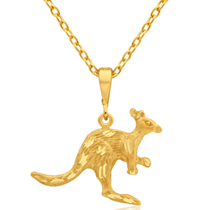 9ct Yellow Gold Kangaroo Pendant