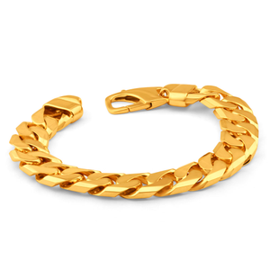 9ct Yellow Gold Heavy Curb Link 23cm Bracelet 450 Gauge