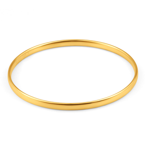 9ct Yellow Gold Copper Filled 4mm x 63mm Bangle