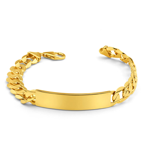 9ct Yellow SOLID Gold Heavy Curb 21cm ID Bracelet 250 Gauge