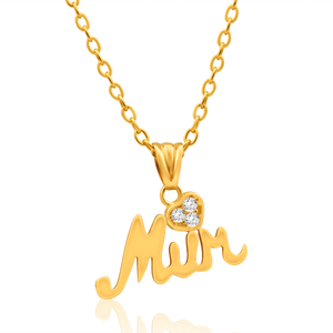 9ct Yellow Gold Lovely Cubic Zirconia Pendant