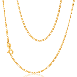 9ct Yellow Gold 40Gauge 45cm Curb Chain