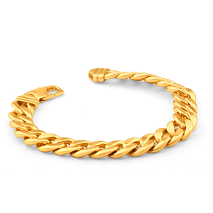 9ct Divine Yellow Gold Copper Filled Curb Bracelet