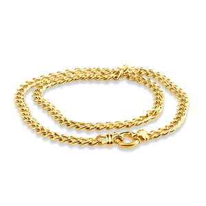 9ct Dazzling Yellow Gold Copper Filled Curb Chain