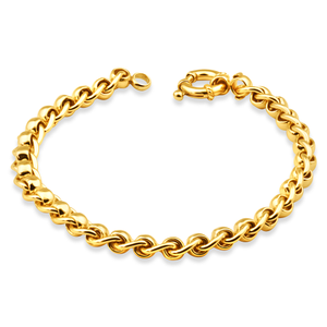 9ct Alluring Yellow Gold Copper Filled Roller Bracelet