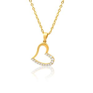 9ct Yellow Gold Luxurious Cubic Zirconia Pendant