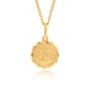9ct Yellow Gold 12mm Pendant