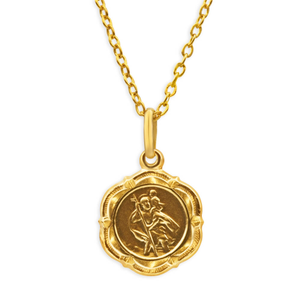 9ct Yellow Gold St Chris Pendant