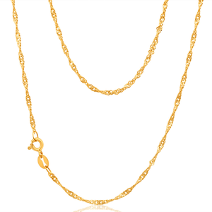 9ct Yellow Gold Singapore 45cm Chain 30 Gauge