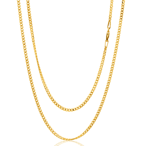 9ct Yellow Gold 50cm 60 Guage Curb Chain