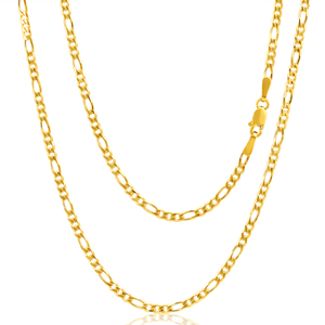 9ct Yellow Gold Figaro 1:3 60Gauge 45cm Chain