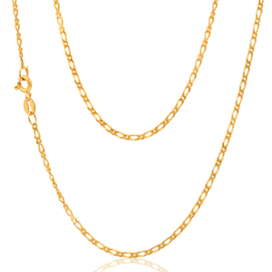 9ct Yellow Gold 1:1 Figaro 50cm Chain 50Gauge