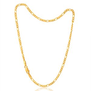 9ct Dazzling Yellow Gold Figaro Anklet