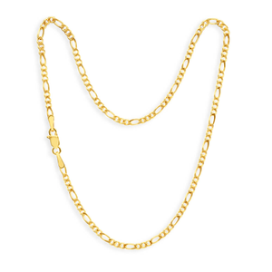 9ct Charming Yellow Gold Figaro Anklet