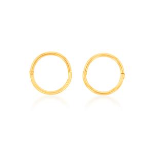 9ct Yellow Gold Sleeper Plain Baby 8mm Earrings