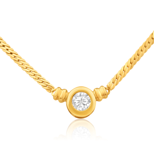 9ct Superb Yellow Gold Cubic Zirconia Chain