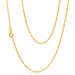 9ct Yellow Gold Figaro 1:3 70cm Chain 40Gauge