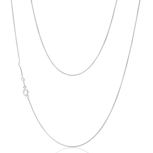 9ct Alluring White Gold Snake Chain
