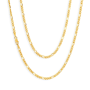 9ct Yellow Gold 55cm 70 Gauge Figaro Chain