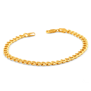 9ct Elegant Yellow Gold Copper Filled Curb Bracelet