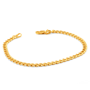 9ct Superb Yellow Gold Copper Filled Curb Bracelet