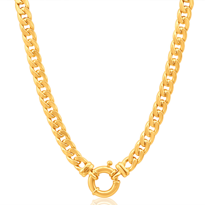 9ct Delightful Yellow Gold Copper Filled Curb Chain
