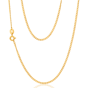 9ct Yellow Gold 40 Guage Curb 50cm Chain
