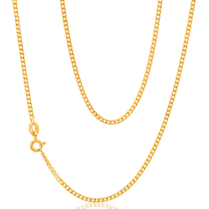 9ct Yellow Gold 50 Gauge Curb Chain 50cm