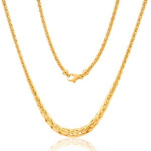 9ct Yellow Gold Silver Filled Wheat Grad 45cm Chain 70 Gauge