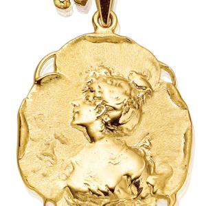 9ct Yellow Gold Cameo Silhouette Pendant