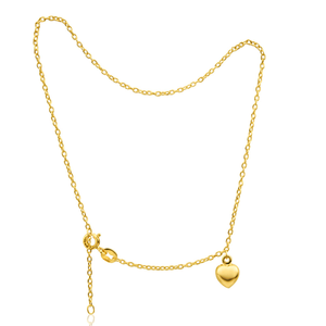 9ct Yellow Gold Silver Filled Alluring Belcher Anklet