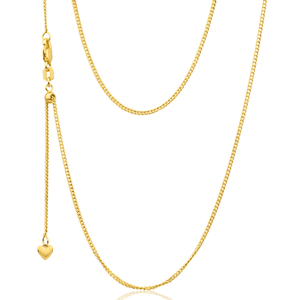 9ct Yellow Gold Silver Filled Extend 45cm Curb Chain 40 Gauge