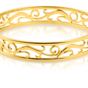 9ct Charming Yellow Gold Bangle