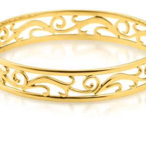 9ct Charming Yellow Gold Bangle