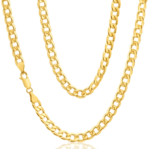 9ct Yellow Gold Copper Filled Curb Chain