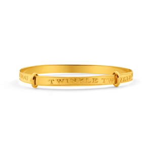 9ct Elegant Yellow Gold Bangle