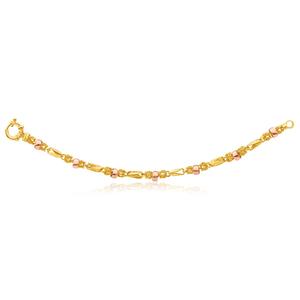 9ct Yellow Gold & Rose Gold Fancy Bracelet