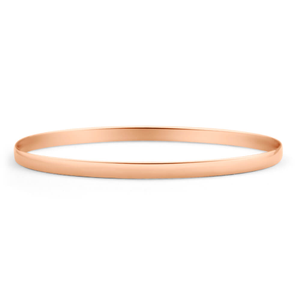 9ct Rose Gold 4mm Solid Bangle